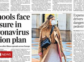 Newspaper headlines: Coronavirus 'action plan' and 'mass testing' in UK