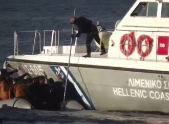 Greek coastguard vessels are filmed colliding with migrant dinghy on the same day a child drowned