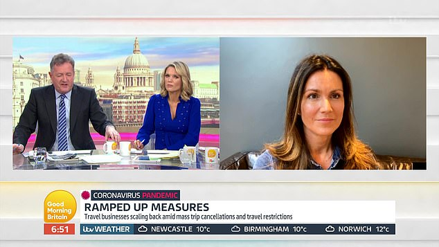 Susanna Reid calls in from home to take part in GMB after revealing she is self-isolating