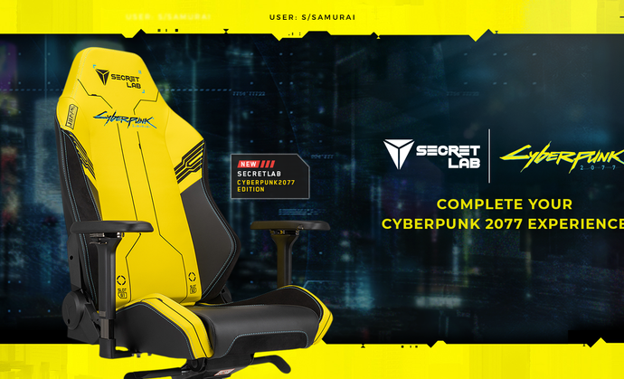 Secretlab's Cyberpunk 2077 Edition gaming chairs are very bright and comfy
