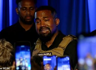 Tearful Kanye West says he stopped Kim aborting North when he got a 'message from God'