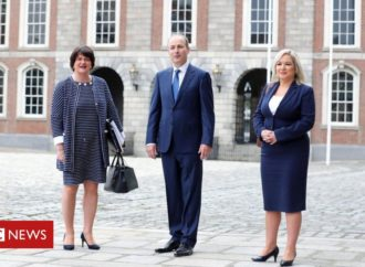 Arlene Foster and Michelle O'Neill attend North South Ministerial Council meeting
