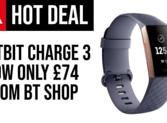 Fitbit Charge 3 Price Drops to £74 at BT Shop – Lowest Price Around
