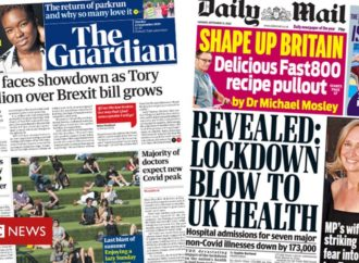 The Papers: Tory 'rebellion' and lockdown 'blow' to health