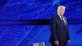 US President Donald Trump at ABC News' town hall event in Philadelphia. Photo: 15 September 2020