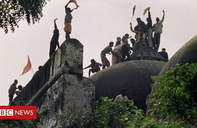 Babri mosque: India court acquits BJP leaders in demolition case